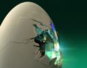cracked crystal egg